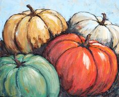 Trendy fruit painting on canvas canvases Ideas Fall Canvas Painting, Fruit Painting, Autumn Painting, Autumn Art, Canvas Art, Pumpkin Painting, Fall Paintings, Canvas Paintings, Canvas Ideas
