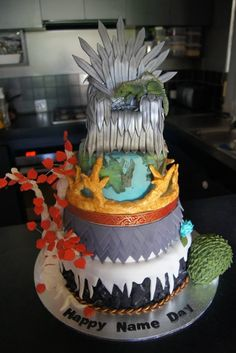 My sister made a Game of Thrones cake for my birthday... -#Imgur