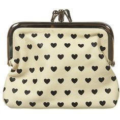 Heart Double Frame Clasp Purse ($12) ❤ liked on Polyvore featuring bags, handbags, clutches, purses, accessories, bolsas, women, heart shaped purse, clasp closure handbags and clasp handbags