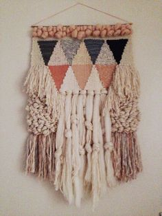 Woven wall hanging weaving by Maryanne Moodie Weaving Textiles, Weaving Art, Weaving Patterns, Tapestry Weaving, Loom Weaving, Wall Tapestry, Hand Weaving, Weaving Designs, Stitch Patterns