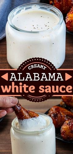 Alabama White Sauce is a tangy and creamy summer recipe flavored with apple cider and horseradish sauce. This homemade sauce is used as a marinade and dipping sauce for your favorite summer dinner recipes! Easy Homemade Recipes, Homemade Sauce, Alabama White Sauce, Horseradish Sauce, Summer Recipes, Dinner Recipes, Favorite Recipes, Snacks, Breakfast