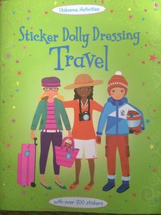 Usborne Books-Sticker Dolly Dressing Travel -New