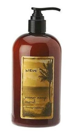 WEN by Chaz Dean Summer Mango Coconut CleansingConditioner  This smells so good and really makes hair healthy. Well worth the $$$. Buy on QVC, don't get off infomercial...