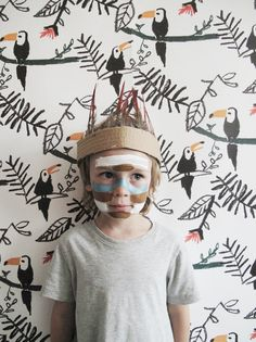 Everyday should be magic - decorated your kids room or just a wall in the kids corner. Kids Room WALLPAPER TUCAN by Nofred