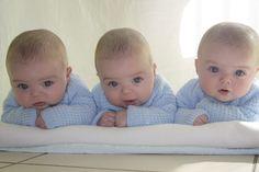 triplets sweet little babies wide awake Precious Children, Beautiful Children, Beautiful Babies, Beautiful Guys, Twin Babies, Little Babies, Cute Babies, Baby Boys, Triplet Babies