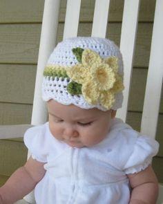 Crocheted Daffodil Hat~Inspiration.