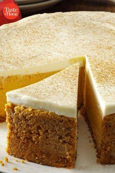 Fall Dessert Recipes, Fall Desserts, Just Desserts, Delicious Desserts, Yummy Food, Fall Recipes, No Bake Desserts, Pumpkin Dessert, Pumpkin Cheesecake