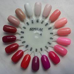 Moje #semilaczki part 1 ;) @ilovesemilac #semilac #diamondcosmetics #hybrydy #ilovesemilac #kolekcja #czerwien #róż #nude