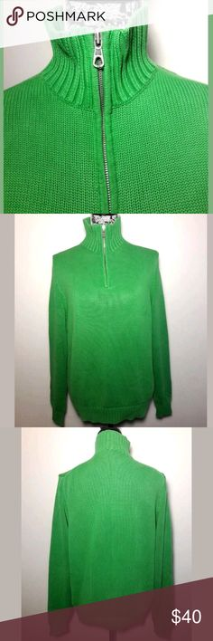 🌟FLASH SALE🌟BLACK FRIDAY DEALS🌟HUGE SAVINGS🌟 J. Crew Sweater   Details:  Pullover  Green Color  100% Cotton  Long Sleeve  Men's Size Medium   Mockneck 1/4 Zipper  Pre-owned in Excellent condition  Please be sure to view all images  Thank you for Looking & Sharing Happy Poshing😄 J. Crew Sweaters Zip Up