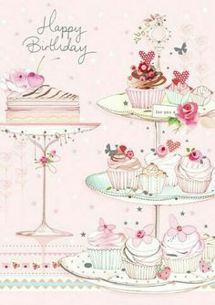 Happy Birthday my PTHBS! Lots of love and hugs to you, have a fabulous day! Happy Birthday Images, It's Your Birthday, Birthday Messages, Happy Birthday Wishes, Birthday Greetings, Birthday Ideas, Cupcake Illustration, Diy And Crafts, Paper Crafts
