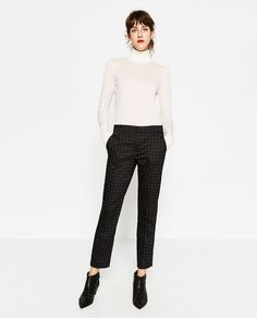 MID-RISE SKINNY TROUSERS-Smart-TROUSERS-WOMAN-SALE | ZARA United Arab Emirates