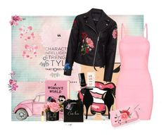 """""""Flowers and a night out"""" by annaruto ❤ liked on Polyvore featuring Olympia Le-Tan, Chanel, Boohoo, South Moon Under, Aéropostale, Kate Spade, NightOut and PinkDress"""