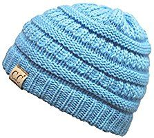 34be2bb74b202 Funky Junque s CC Kids Baby Toddler Ribbed Knit Children s Winter Hat  Beanie Cap Kids Winter Hats