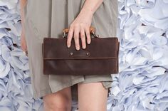 Brown Leather Clutch / Women Purse / by EllenRubenBagsShoes