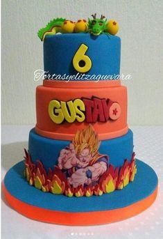 Festa Dragon Ball Z e Dragon Ball super - Mais de 50 ideias - Goku Birthday, Leo Birthday, Birthday Celebration, Birthday Cake, Tarta Dragon Ball, Dragonball Z Cake, Ideas Para Fiestas, Birthday Decorations, Fondant