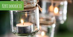 Szeretnél kertednek egyedi jegyeket kölcsönözni vagy különleges hangulatot teremteni? Dekorációs lehetőségek és különféle kiegészítők végtelen sokasága létezik a Te egyedi kerted kialakításához. Kattints a képre és látogass el weboldalunkra! Candle Jars, Candles, Diy, Bricolage, Candy, Do It Yourself, Candle Sticks, Homemade, Diys
