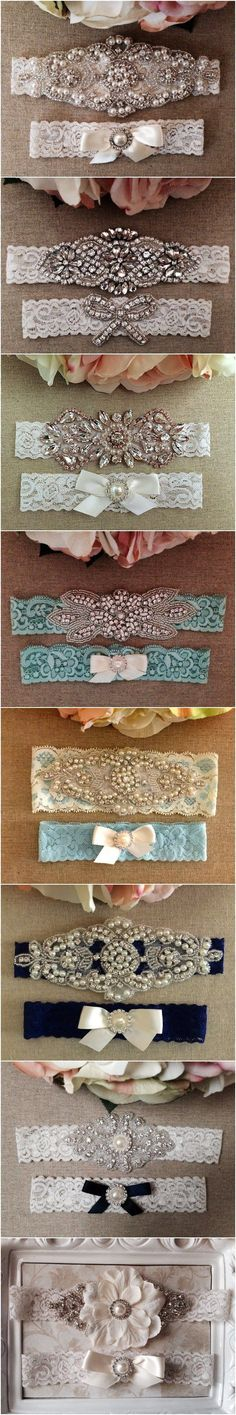 Vintage Lace Wedding Bridal Garter Sets via BellaFleurBridal / http://www.deerpearlflowers.com/wedding-garters-sets-from-etsy/4/