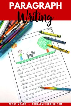 Paragraph Writing in the Writing Process Writing Lessons, Writing Process, Writing Resources, Writing Activities, Learning Resources, Fun Learning, Teaching Paragraphs, Paragraph Writing, Teaching Strategies