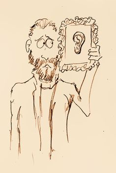 """23rd December 1888 - Dutch painter Vincent van Gogh cuts off his left ear.  NB: """"Friends, Romans, Countrymen lend me your ears"""" said Mark Antony at the beginning of Shakespeare's """"Julius Caesar""""...but he wasn't expecting this!"""