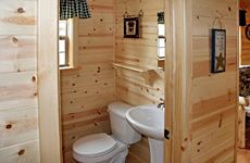 Small Cabin Bathrooms | ... units call 724 735 2417 for cabin and yurt rentals log cabins 2 3