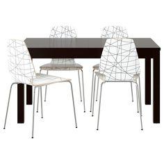 BJURSTA/VILMAR Table and 4 chairs - IKEA