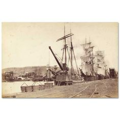 An early image of the South Dock, Swansea. Victorian London, Cymru, Swansea, British History, South Wales, Welsh, Newport, Sailing Ships, Birth