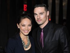 """Kristin Kreuk and Jay Ryan (""""BEAUTY AND THE BEAST"""") at The CW Upfront Party - Colicchio & Sons, New York, Thursday, May 17, 2012. Photo: Timothy Kuratek/CW ©2012 CW Broadcasting Inc. All Rights Reserved."""