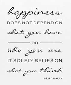 What thoughts make you happy?