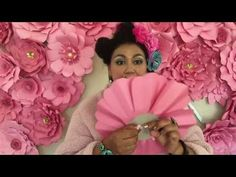 How to mount your giant paper flowers with Lovely Juanita Crafter - YouTube