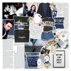 """♔;  ""cause she's loving him with those eyes"""" by the-forgotten-wolf ❤ liked on Polyvore featuring Sebastian Professional, Chanel, Assouline Publishing, Senna Cosmetics, Clips, Again, Authentic Models, American Eagle Outfitters, collaboration and snapmade"