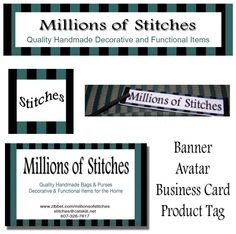 Banner and Matching Tag and Business Card #zibbet