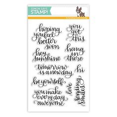 Simon Says Clear Stamps HANDLETTERED ENCOURAGEMENT SSS101705 New Beginnings Preview Image