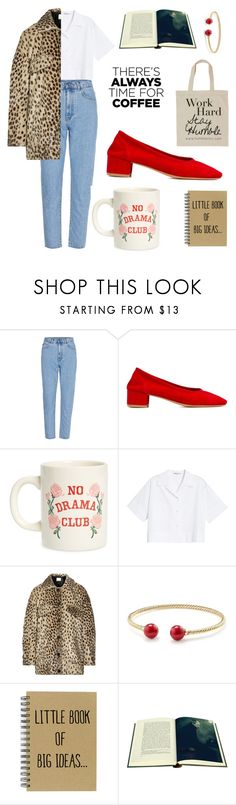 """""""Only books, sorry."""" by sarai-tj ❤ liked on Polyvore featuring Maryam Nassir Zadeh, ban.do, Acne Studios, By Malene Birger, David Yurman, Folio, Humble Chic and CoffeeDate"""