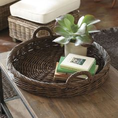 Handwoven Vine Tray | Home Accessories | Ballard Designs