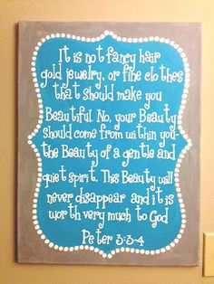 The Crafty Fox: Bible verse Canvas great for little girls room $35 18x24