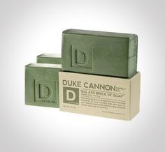 Duke Cannon Big Ass Brick of Soap: badass product and badass packaging