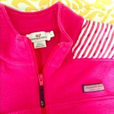 Vineyard Vines Shep Shirt Flash sale! EUC, VV lipstick pink shep shirt, shoulder have stripe pattern, adorable. Worn on a couple times, size Large but fits more like a Medium IMO. No stains, holes etc. Vineyard Vines Tops Sweatshirts & Hoodies
