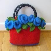 Felted Clutch Bag  - via @Craftsy