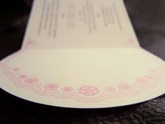 Lace detail inside the invitaion by Willie wagtail design Invites, Wedding Invitations, Craft Wedding, Wedding Stationary, Lace Detail, Crafts, Design, Wedding Stationery, Manualidades