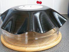 Centi bastelt: Schallplattenschüsseln