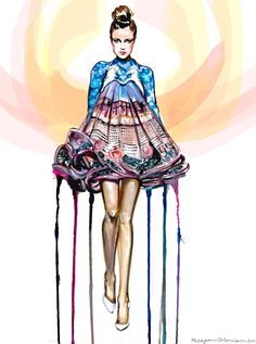 Mary Katrantzou illustration competition - Meagan Morrison.