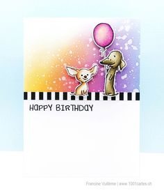 I'm thrilled to be collaborating again with Whimsy stamps during the next weeks. Thanks so much to Debbie for this collaborat. Dog Cards Handmade, Animal Rescue League, Whimsy Stamps, Card Making Inspiration, Stamp Collecting, Creative Cards, Cute Cards, Clear Stamps, Dog Design