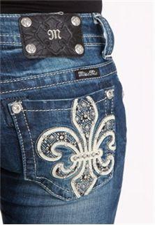 Miss Me Jeans Fleur Black Stone Bootcut Sizes 25-34 JP6183B