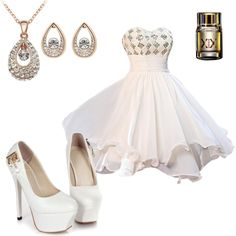 White Elegant Dress #ShopSimple