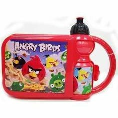 Angry Birds 2pieces Lunch Box w/bottle by U.P. $14.83. water bottle + box. made in china.