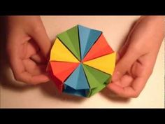 How To Make an origami Magic circle - YouTube