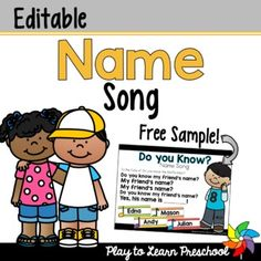 Teaching Resources & Lesson Plans   Teachers Pay Teachers Preschool Name Recognition, Preschool Names, Toddler Speech Activities, Stem Activities, Welcome Songs, Name Songs, Class List, Circle Time, Play To Learn