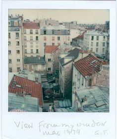Gisèle Freund, View from my window, May 1979