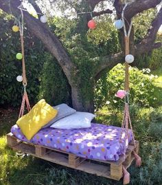 33 Pallet Swings – Chair, Bed and Bench Seating Plans   Pallet Furniture DIY