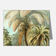 Vintage Tropical Palm Note Cards for